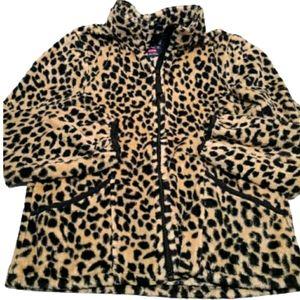 🥶👧 Leopard jacket